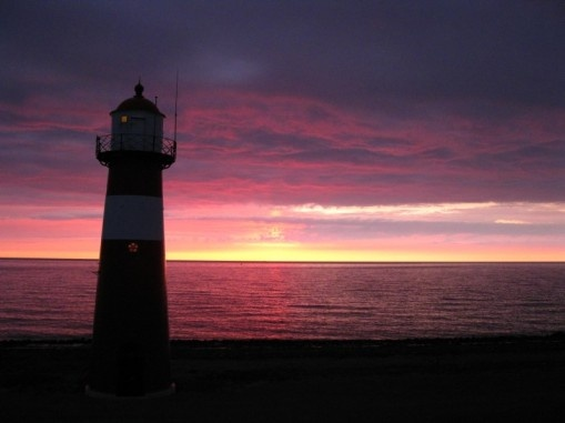Ligthhouse just after sunset