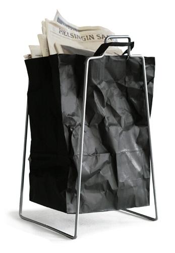 Everyday Design paperbag holder, www.everydaydesign.fi, also is Design Boulevard's collection.