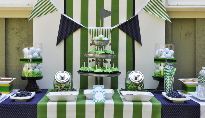 Tee Time Dessert Table - Father's Day