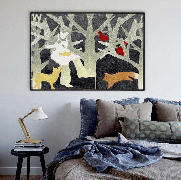 Ilustracja na ścianę.  SZCZEGÓŁY: - wydruk atramentowy na papierze fotograficznym - opakowana w przeźroczystą folię chroniącą przed zabrudzeniem - format ok.: A4 (297 x 210 mm.) - bez...