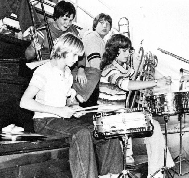 Kurt Cobain in his high school brass band.