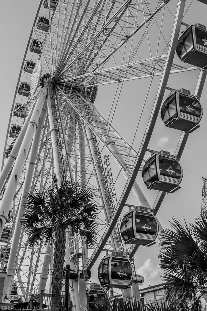 Myrtle Beach Skywheel In Black And White  #Boardwalk #MyrtleBeach #SouthCarolina #Beach #Sky #Skywheel #SkywheelMyrtleBeach #MB #Cloud #Clouds #Pier #Paradise #People #Tourist #Tourists  #Photo #PhotoOfTheDay #POTD #Photography #Photographer #Canon #CanonPhotographer