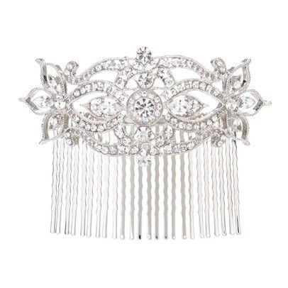 Vintage Crystal Bridal Hair PieceOzsaleHRG7-Silver
