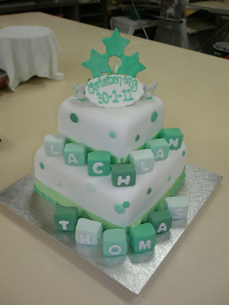 Love the colours on this christening cake - Sweet Designs by Claire #cake #christening #fun #green