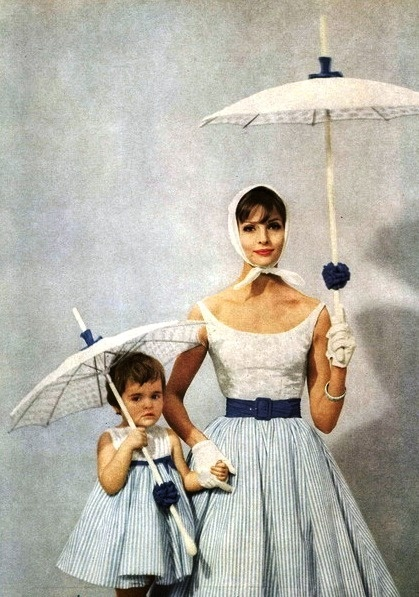 Mademoiselle Editorial Bonbon Dresses: Take Your Pick, March 1959 Shot #4