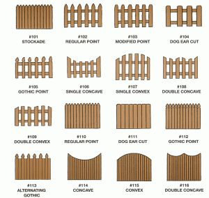 Different types of wood fences