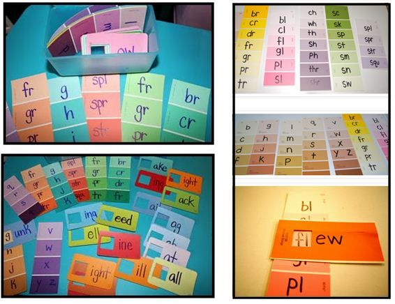 Paint Chip Word Family Cards