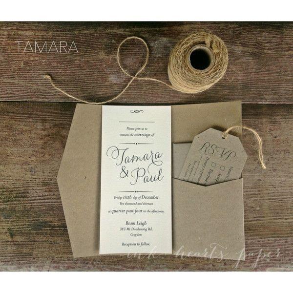 Wedding Invitations - Ink Hearts Paper