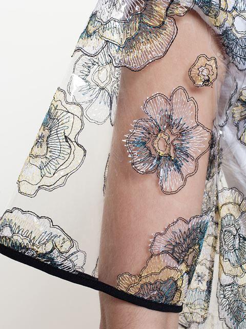 Msgm Embroidered Pvc Raincoat - Browns - Farfetch.com