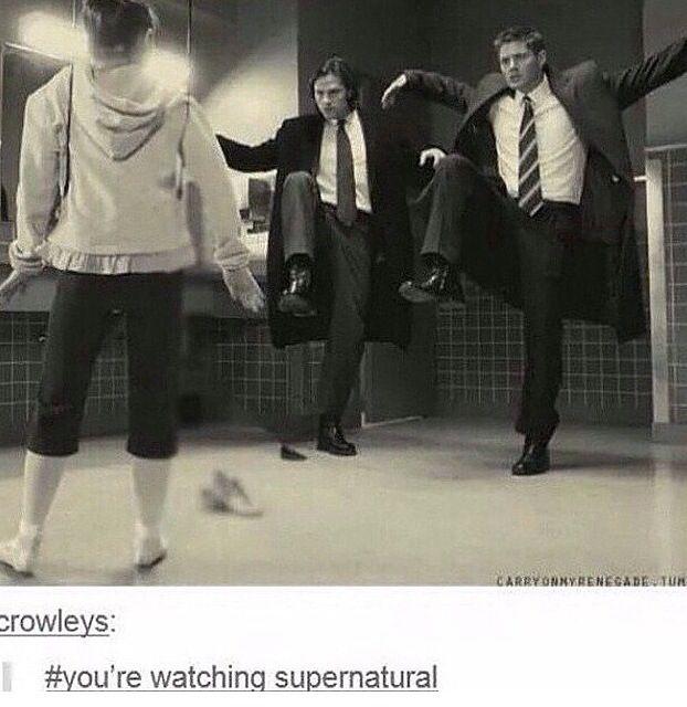 You're watching Supernatural. lol