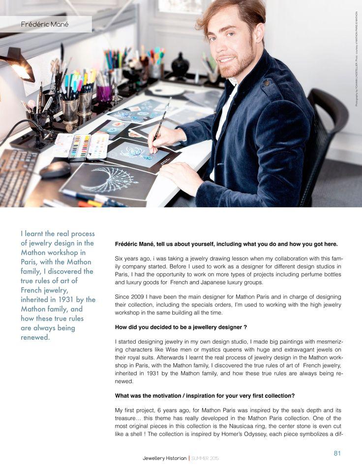 14 best Jewellery Press \/ Frédéric Mané designer images on - interview workshop