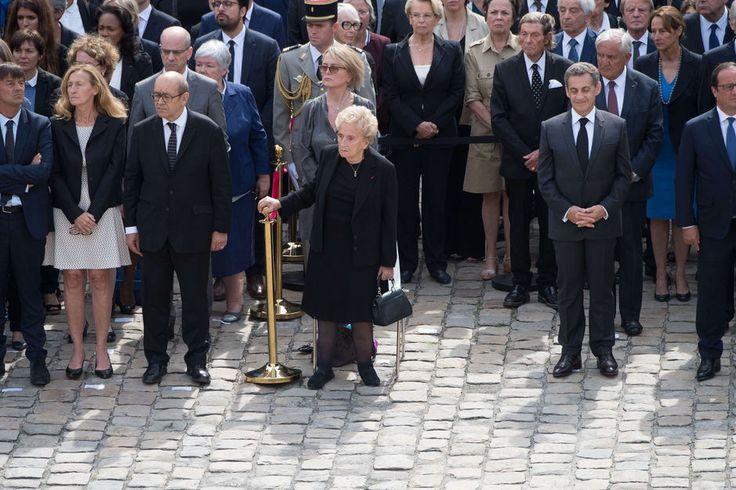 Bernadette Chirac à l'hommage rendu à Simone Veil aux Invalides, le 5 juillet 2017.