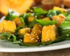 Salade à la citrouille et aux épinards (facile, rapide) - Une recette CuisineAZ