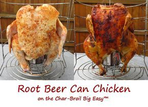 The Char-Broil Big Easy does a phenomenal job cooking poultry. You don't even have to get all fancy with it, but sometimes I like to do a little extra and make a beer (or soda) can version of my favorite whole roasted chickens. This root beer can chicken came out fantastic. I used a slightly spicy but simple rub, and a good canned root beer. Moist and tender meat with great flavor. I couldn't have been happier.