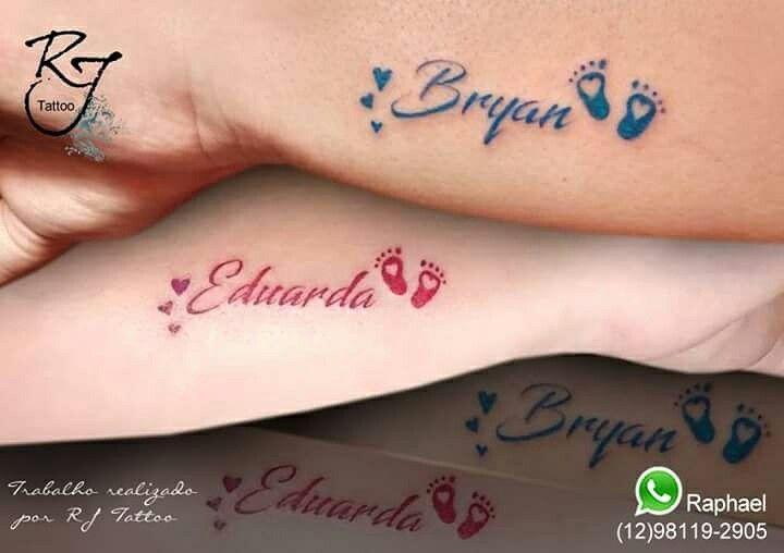 Tattoo homenagem aos filhos https://www.instagram.com/rj.tattoo.sjc/