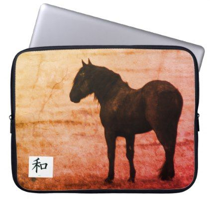 Neoprene Laptop Sleeve 15 inch WILD HORSE OF UTAH - horse animal horses riding freedom