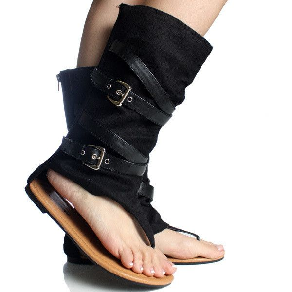 black suede buckle slouch scrunch mid calf boot sandal