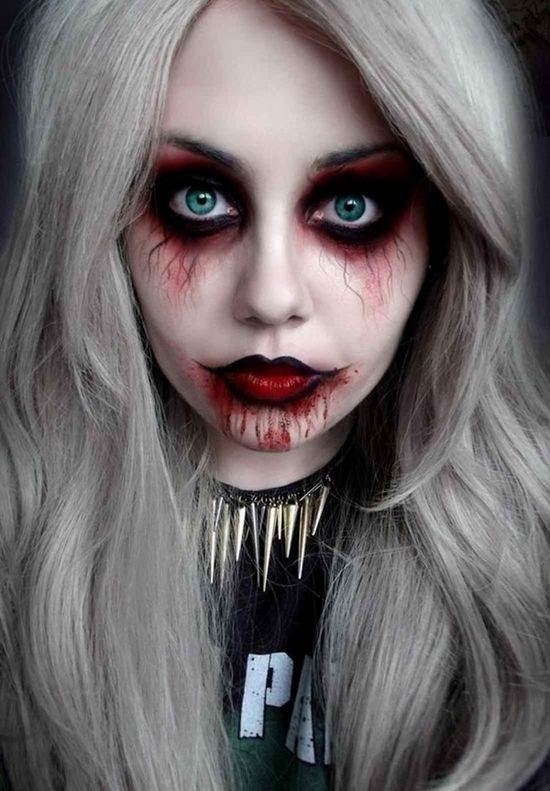 scary halloween make up ideas for women cool diy halloween ideas - Easy Scary Halloween Face Painting Ideas