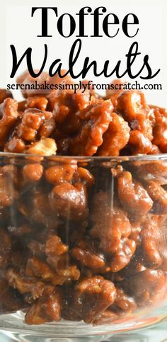 Toffee Walnuts makes a wonderful addition to holiday candy trays. | Serena Bakes Simply from Scratch