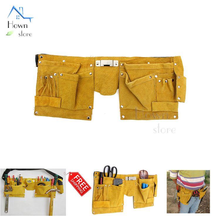 Leather Tool Pouch Electrician Belt Bag Pocket Framer Carpenter #HS