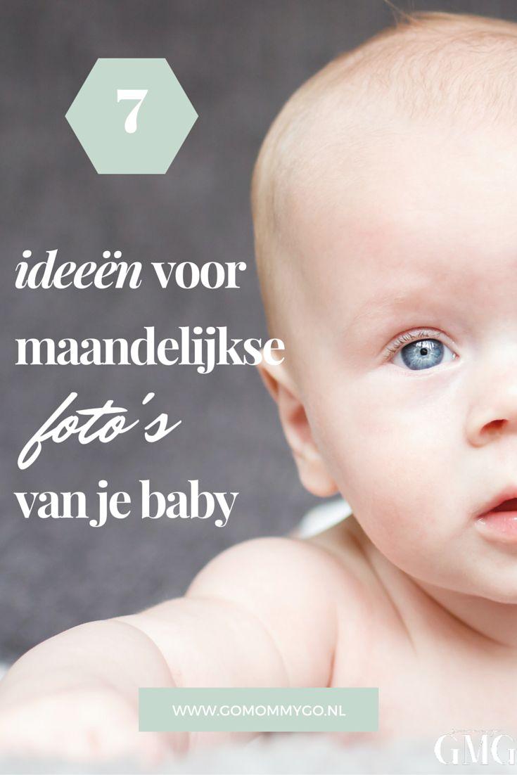 De leukste ideeën voor maandelijkse foto's van je baby   www.gomommygo.nl