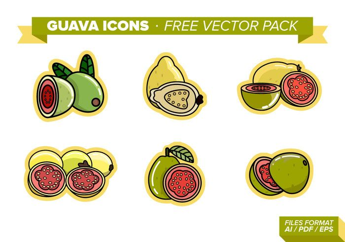 Guava Icons Free Vector Pack