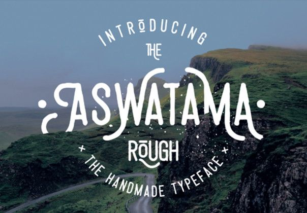 Aswatama Rough is a typeface consisting of capital letters designed specifically for custom cultures such as motorcycle enthusiasts, rockabilly trends, vintage styles, retro throwbacks, and more. Aswatama includes ligatures, stylistic alternates, and swashes.
