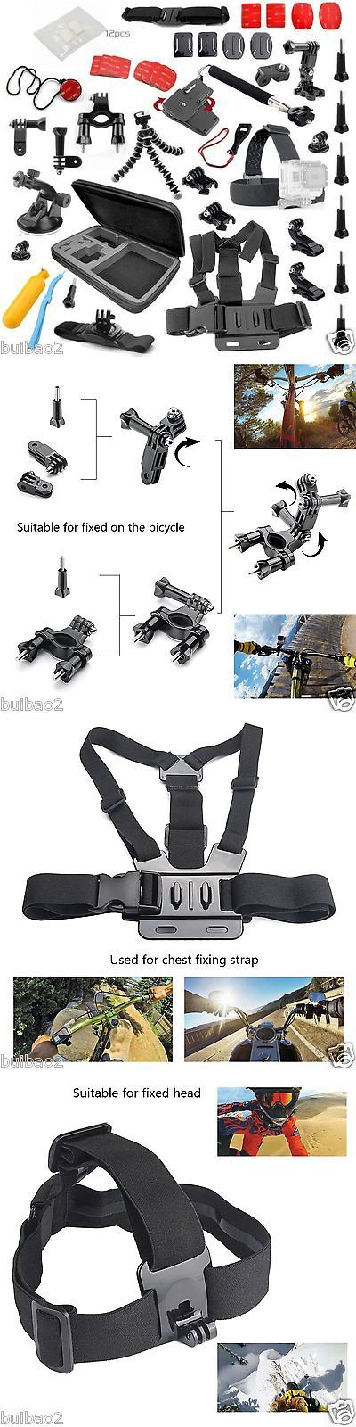 photo and video: 70In1 Pole Head Chest Mount Strap For Gopro Hero 3 4 Camera Accessories Set Kit -> BUY IT NOW ONLY: $37.99 on eBay!