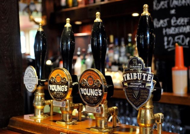 The bar at The Plough Inn // 10 North Somerset Pubs recommended by the good pub guide // www.northsomersettimes.co.uk