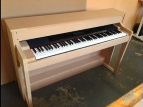 How we made a piano shell from scratch for our electric keyboard - YouTube