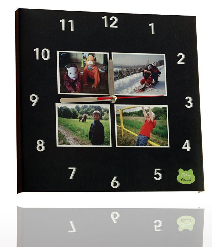 Photo Clock - nowość w naszym sklepie!  Idealne połączenie przyjemnego z pożytecznym. Zegar, którego funkcję każdy zna połączony ze zdjęciami naszych najbliższych. Teraz za każdym razem, nawet jak będziemy gdzieś spóźnieni lub będziemy się spieszyć, spojrzenie na zegar wywoła u nas uśmiech na twarzy. Świetny pomysł na prezent oraz indywidualny gadżet w domu.  Do zamówienia pod tym linkiem: http://zielonychomik.pl/zegary/44-photo-clock.html  Zapraszamy!