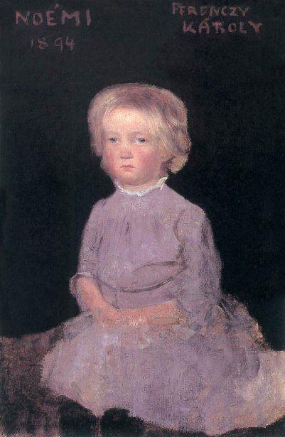 Karoly Ferenczy (1862 – 1917, Hungarian) Noémi As A Child