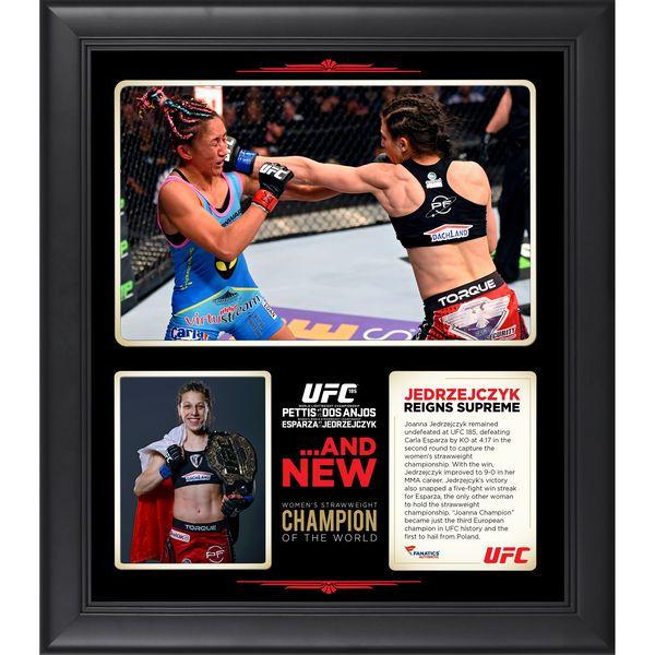 Joanna Jedrzejczyk Ultimate Fighting Championship Fanatics Authentic Framed 15'' x 17'' UFC 185 New Women's Strawweight Champion Collage - $59.99
