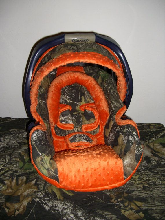 Mossy oak break up camo with minky color choice, graco, baby trend, chicco, britax, evenflo, peg, replacement Car seat cover on Etsy, $139.00