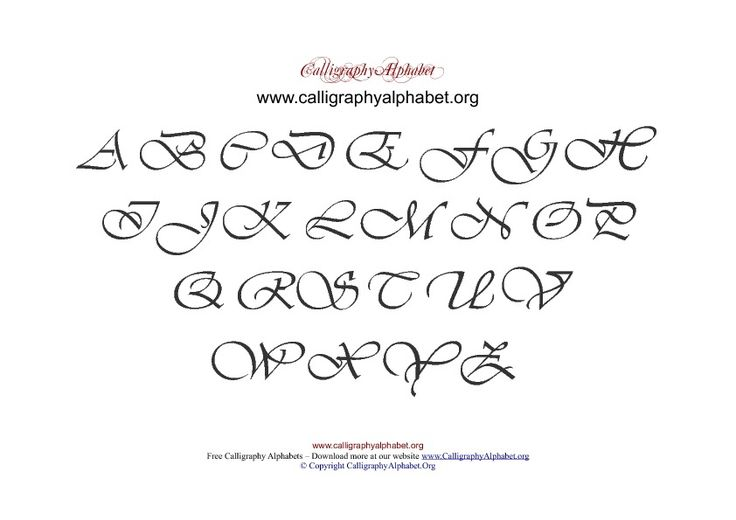 Pdf calligraphy alphabet chart uppercase hand lettering