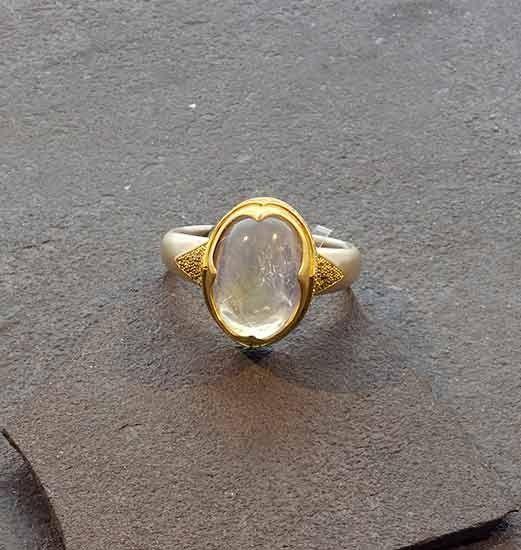 Bask Rings  Moonstone