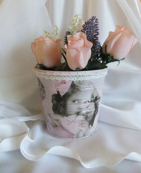 Nostalgie Blumentopf Übertopf von Monique-Marie auf DaWanda.com