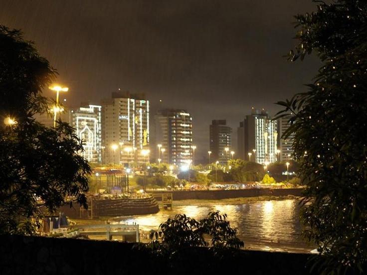 Praia da Ponta Negra at night,  Manaus, AM – Brasil