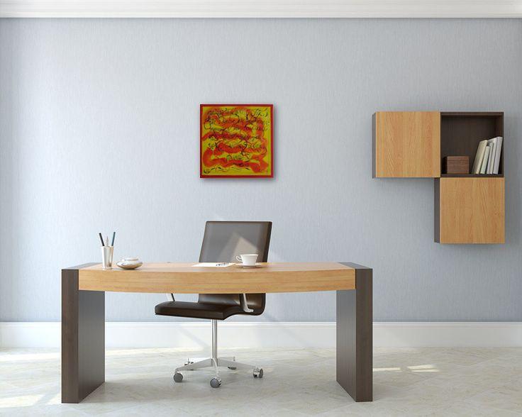 Bildvorschau: Nr. 650 Grüsse im Wind (2013) im Büro http://art-by-manuel.com