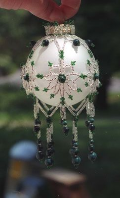Beaded bauble--Nice color combination