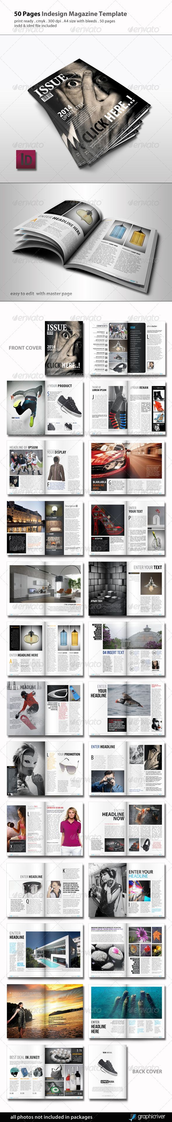 Magazine Template — InDesign INDD #cmyk #indd • Available here → https://graphicriver.net/item/magazine-template/5123738?ref=pxcr