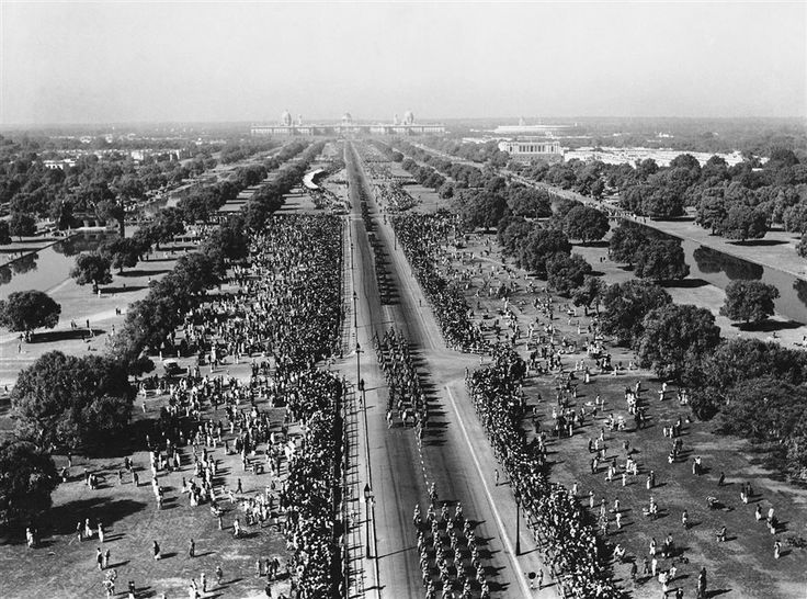 Aerial View from top of India Gate - 1951