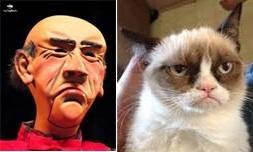 Jeff Dunham's Walter and Grumpy Cat.....hmmmmmm