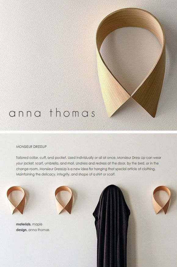 Monsieur Dressup - coat rack | design by Anna Thomas