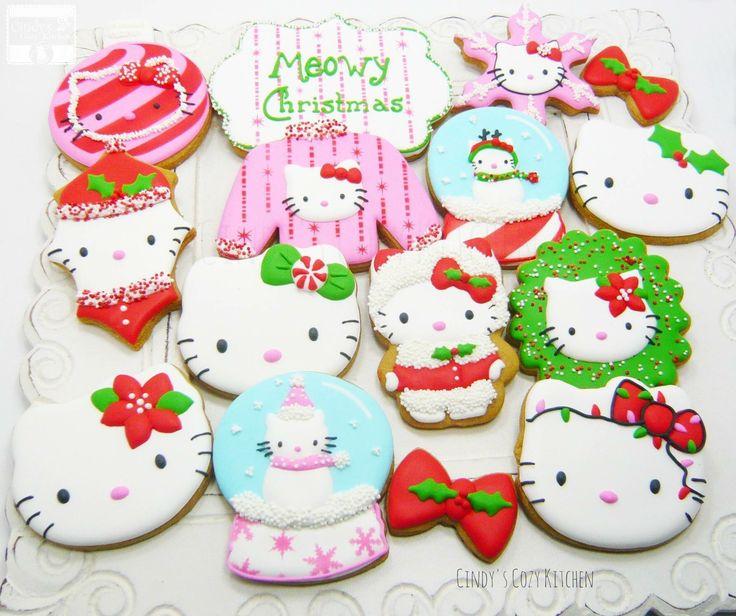 Hello kitty Christmas cookies