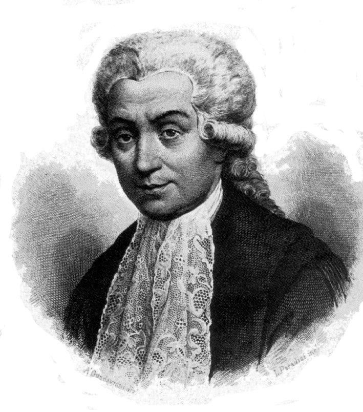 Luigi Galvani (1737 – 1798) was an Italian physician, physicist and philosopher who lived and died in Bologna. In 1780, he discovered that the muscles of dead frogs legs twitched when struck by an electrical spark. This was one of the first forays into the study of bioelectricity, a field that still studies the electrical patterns and signals of the nervous system.