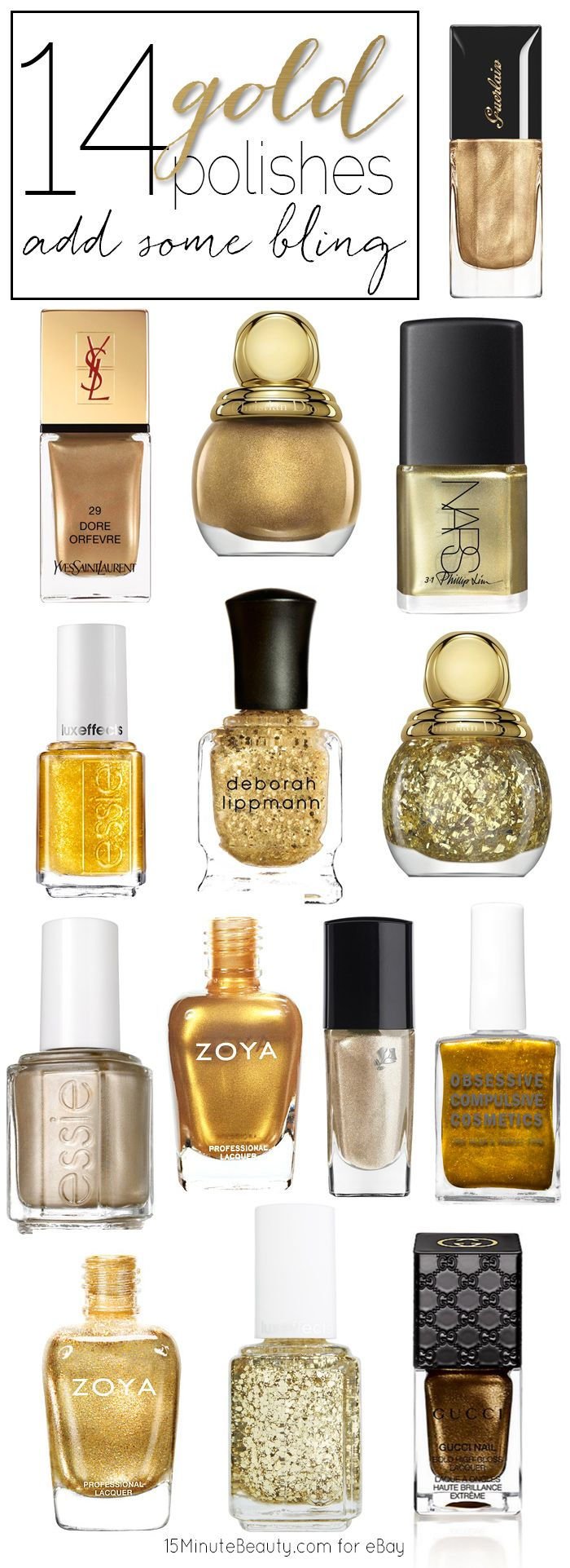 Great gold nail polishes!