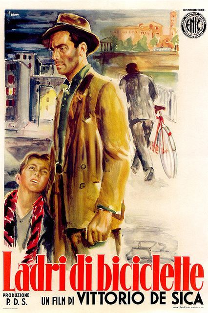 See These Foreign Films & Impress Your Friends  #refinery29  http://www.refinery29.com/best-foreign-films#slide-5  The Bicycle Thief (1949) Vittorio De Sica's beloved film about a man searching for a job, and then for his stolen bicycle, is a classic of Italian neorealist cinema. Sometimes known as Bicycle Thieves, it's widely regarded as one of the best films eve...