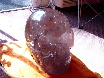 Akator, the smoky quartz crystal skull. Carved by renowned master skull carver Leandro Souza