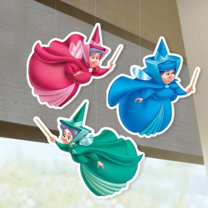 Si comme Aurore tu ne peux pas te passer de ses marraines les fées, fabrique ce joli mobile pour les avoir toujours dans ta chambre !